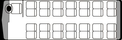 28人乗り・中型バス座席表(通常時)