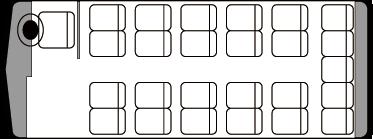 25人乗り・小型バス座席表(通常時)
