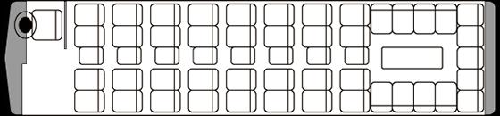 45人乗り・大型バス座席表(サロン時)