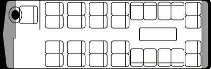 28人乗り・中型バス座席表(サロン時)