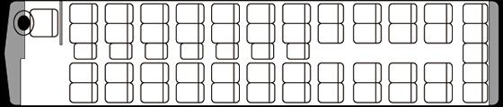 49人乗り・大型バス座席表(通常時)