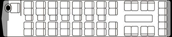 49人乗り・大型バス座席表(サロン時)