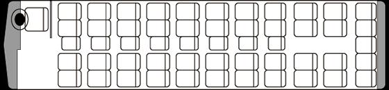 45人乗り・大型バス座席表(通常時)