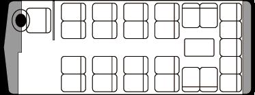 25人乗り・小型バス座席表(サロン時)